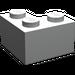 LEGO Pearl Light Gray Brick 2 x 2 Corner (2357)