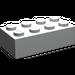 LEGO Pearl Light Gray Brick 2 x 4 (3001)