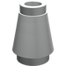 LEGO Pearl Light Gray Cone 1 x 1 with Top Groove (4589)