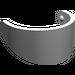 LEGO Pearl Light Gray Minifig Helmet Visor