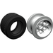 LEGO Pearl Light Gray Wheel 49.6 x 28 VR Assembly