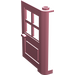 LEGO Pink Door 1 x 4 x 5 with 4 Panes with 2 Points on Pivot
