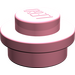 LEGO Pink Plate 1 x 1 Round