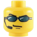 LEGO Plain Head with Decoration (Safety Stud) (63814)