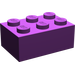 LEGO Purple Brick 2 x 3 (3002)
