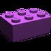 LEGO Purple Brick 2 x 3 (3002)