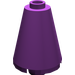 LEGO Purple Cone 2 x 2 x 2 (Completely Open Stud) (3942)