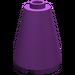 LEGO Purple Cone 2 x 2 x 2 (Open Stud) (3942)