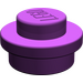 LEGO Purple Plate 1 x 1 Round