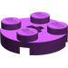 LEGO Purple Plate 2 x 2 Round with Axle Hole (with '+' Axle Hole) (4032)