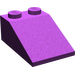 LEGO Purple Slope 25° (33) 2 x 3 with Rough Surface