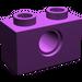 LEGO Purple Technic Brick 1 x 2 with Hole (3700)