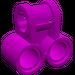 LEGO Purple Technic Cross Block with Two Pinholes (32291)