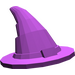 LEGO Purple Wizard Hat (Older Style with Smooth Surface) (6131)