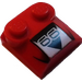 LEGO Red Bonnet 2 x 2 x 2/3 with '66' without Curved End