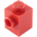 LEGO Red Brick 1 x 1 with Stud on One Side (87087)