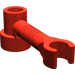 LEGO Red Brick 1 x 1 x 2/3 Round with Bar and Vertical Clip (4735)