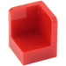LEGO Red Panel 1 x 1 x 1 Corner with Rounded Corners (6231)