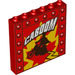 LEGO Red Panel 1 x 6 x 5 with Decoration (50133)