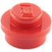 LEGO Red Plate 1 x 1 Round (6141)