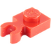 LEGO Red Plate 1 x 1 with Vertical Clip (Thick Open 'O' Clip) (4085 / 44860)