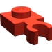 LEGO Red Plate 1 x 1 with Vertical Clip (Thin Open 'O' Clip) (4085)