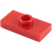 LEGO Red Plate 1 x 2 with 1 Stud (without Bottom Groove) (3794)