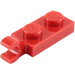 LEGO Red Plate 1 x 2 with Horizontal Clip on End (63868)