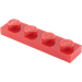 LEGO Red Plate 1 x 4 (3710)