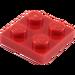 LEGO rouge assiette 2 x 2 (3022 / 94148)