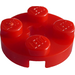 LEGO Red Plate 2 x 2 Round with Axle Hole (with '+' Axle Hole) (4032)