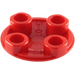 LEGO Red Plate 2 x 2 Round with Rounded Bottom (2654 / 93791)
