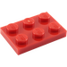 LEGO Red Plate 2 x 3 (3021)