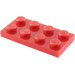 LEGO Red Plate 2 x 4 (3020)