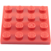 LEGO Red Plate 4 x 4 (3031)