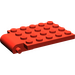 LEGO Red Plate 4 x 5 Trap Door Curved Hinge (30042)