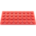 LEGO Red Plate 4 x 8 (3035)