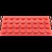 LEGO rouge assiette 4 x 8 (3035)