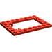 LEGO Red Plate 6 x 8 Trap Door Frame Recessed Pin Holders