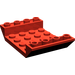 LEGO Red Slope 4 x 6 (45°) Double Inverted with Open Center without Holes (30283)