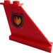 LEGO Red Tail 4 x 1 x 3 with Fire Logo (Right) Sticker