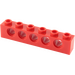 LEGO Red Technic Brick 1 x 6 with Holes (3894)