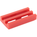 LEGO Red Tile 1 x 2 Grille (with Bottom Groove) (2412)