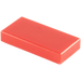 LEGO Red Tile 1 x 2 with Groove (3069 / 30070)
