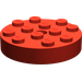 LEGO Red Turntable 4 x 4 Top (Non-Locking) (3404)