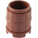LEGO Reddish Brown Barrel 2 x 2 x 1.667 (2489 / 26170)