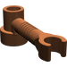 LEGO Reddish Brown Brick 1 x 1 x 2/3 Round with Bar and Vertical Clip