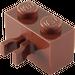 LEGO Reddish Brown Brick 1 x 2 with Vertical Clip (Gap in Clip) (30237)