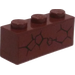 LEGO Reddish Brown Brick 1 x 3 with Cracked Pattern from Set 70502 Sticker