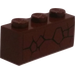LEGO Reddish Brown Brick 1 x 3 with Cracked Pattern Sticker